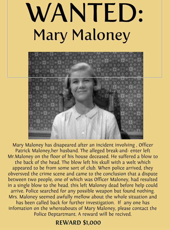 maloneys manslaughter Character analysis of mary maloney lamb to the slaughter 654 words | 3 pages short story writing in the short story lamb to the slaughter written by roald dahl.